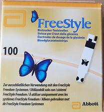 100 Blutzucker-Teststreifen FreeStyle von Abbott NEU&OVP MHD 03/2019 * TOP *