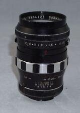 Schneider Tele Xenar f3.5 135mm Late Model Preset Version * Rare Exakta Lens *