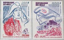 MALI 1989 1125-26 C550-51 French Revolution Bicent. PHILEXFRANCE 89 Marianne MNH