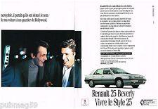 Publicité Advertising 1991 (2 pages) Renault 25 Beverly