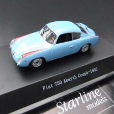 Fiat 750 Abarth Coupe  - 1956- hellblau -  1:43 Starline  Models #278
