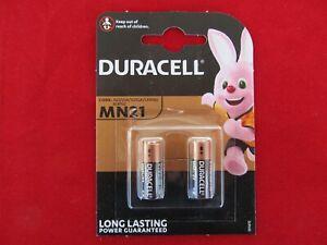 2 Duracell MN 21 Alkakline 12 Volt V23GA A23 LRV08 23AE L1028 LR23 A23S 23A