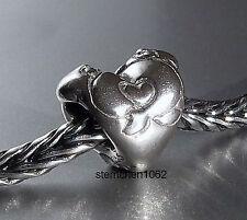 Original Trollbeads * Umarmendes Herz * Hugging Heart * 925 Silber