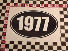 1977 Year Sticker - MGB Mini Escort Cortina Viva Allegro Marina Maxi Birthday