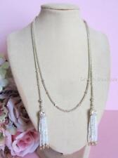 Kendra Scott Monique Gold Plated Mother of Pearl Lariat Tassel Necklace NWT