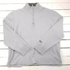 The North Face 1/4 Zip Wool Blend Mens Large Gray Pull Over Long Sleeve Sw13