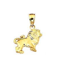 Mens Real 10K Yellow Gold Lion Animal Pendant Charm 1.00 Gram