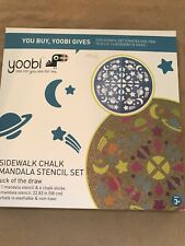 Yoobi Sidewalk Chalk Space Ship Mandala Set with 1 Stencil and 6 Chalk pc - Mult