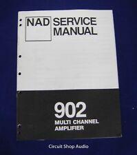 Original NAD 902 Multi Channel Amplifier Service Manual