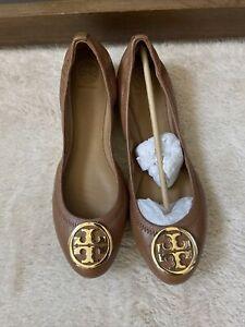 NIB Tory Burch Women's Benton 2 Travel Ballet Nellie Nappa Leather Flats Size 9
