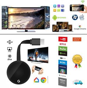 ✅ Chromecast GOOGLE WIRELESS MIRASCREEN HDMI DISPLAY HD MEDIA VIDEO STREAMING