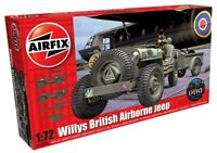 AIRFIX 1:72 WILLYS BRITISH AIRBORNE JEEP MODEL VEHICLE WW2 MODEL TRUCK A02339