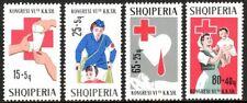 Albania B34-B37, MNH. Albanian Red Cross First Aid.Nurse, Blood Transfusion,1967
