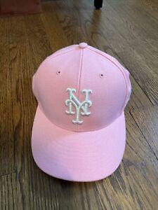 New York Mets Pink Baseball Hat - Ladies '47
