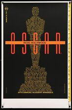 Original 1997 ABC TV 69TH ACADEMY AWARDS Printer's Test Poster Oscar Design