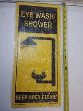 EYE WASH/SHOWER  SIGN - LAB SAFETY SUPPLY - 20395