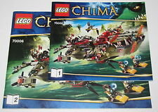 Lego Instructions for Set 70006 Cragger's Command Ship Booklet Only