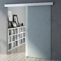 Modern Fully Frosted Tempered Glass Sliding Door With Round Handle Soft Close