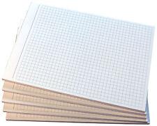 6 x Notizblock kariert - karierte Blocks  DIN A5 - 80g/m²  Notizen grau (22209)