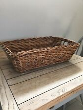 Vintage French Large Wicker Bread Basket