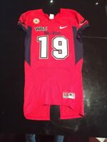 Game Worn Used Fresno State Bulldogs Football Jersey #19 Nike Size Medium