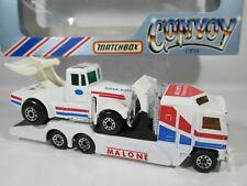 MATCHBOX CONVOY, CY10, KENWORTH, MALONE RACING TRANSPORTER TRUCK & SUPER BOSS