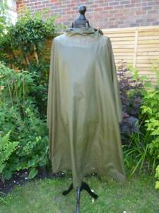 1982 US Army Military Multipurpose Poncho Wet Weather, Ground Sheet, Rain Cape