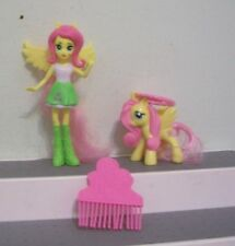 Mcdonalds  MY LITTLE PONY Fluttershy Pony & Equestria Girl DOLL LOT COMB PLAYSET