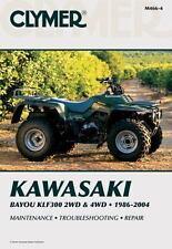 1986-2004 Kawasaki Bayou KLF300 2WD/4WD Repair Manual 1992 1991 1990 1989 M4644