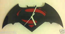 batman v superman style Clock - black + redk 3mm Acrylic 30cm  new design wow