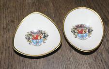 Lindner Kueps Bavaria Crested Ware - 2 x small trinket dishes - Darmstadt
