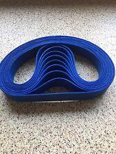 """3 X Blue Felt Sanding Belts 2""""x 72"""" Made In Birmingham U.K."""