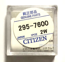 Citizen 295-76 Capacitor Battery for Eco-Drive (Genuine Factory Sealed Part)