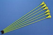 Six fibreglass practise arrows (suction cups)