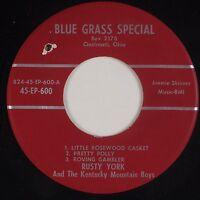 RUSTY YORK & KENTUCKY MOUNTAIN BOYS: Ohio Bluegrass EP Rare 45 NM-