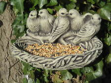 Wall bird seed feeder stone garden ornament | Many more ornaments in my shop!