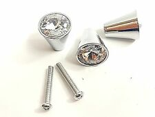 10pcs CD10 17mm Faceted Crystal Door Knob Drawer Cabinet Furniture Handle Pull