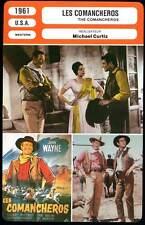 LES COMANCHEROS - Wayne,Whitman,Curtiz (Fiche Cinéma) 1961