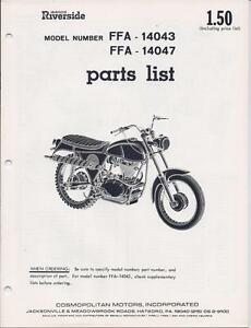 1960's Benelli 360cc? 4-stroke, Wards FFA-14043/47 model NOS factory parts list