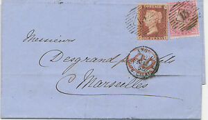 GB 1858 QV 4d rose-carmin together with 1d rose-red perf. 14 ('FE') LATE FEE