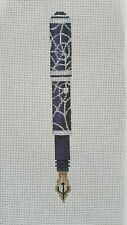 Sharon G Fountain Pen With Web Needlepoint Canvas Painted 18 Count FP 30