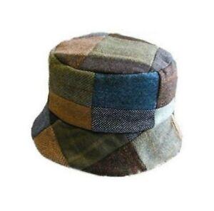 Ladies Donegal Patchwork Tweed Casual Hat Handmade in Ireland
