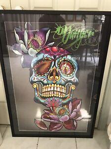 Skull Face Tattoo Poster In Frame - New