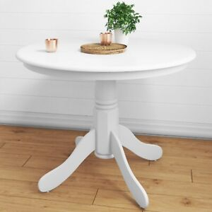 Small Round Dining Table in White - Seats 4 - Rhode Island