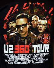 U2 Tour 360 Degree 2009 T-Shirt Black Size M