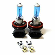 MAZDA 3 BL H11 501 100W SUPER WHITE XENON BASSO / CANBUS LED Side Light Bulbs Set
