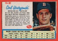 1962 Post #61 Carl Yastrzemski VG+ HALL OF FAME Boston Red Sox FREE SHIPPING