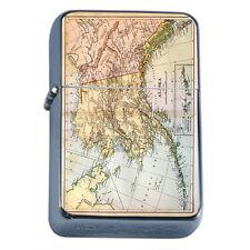 Scenic Alaska D12 Flip Top Oil Lighter Windproof Resistant Flame State Map