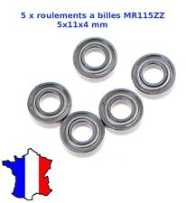5x roulement à billes Mr 115 zz 5x11x4 mm Bearing 5 * 11 * 4 MM - mr115 zz