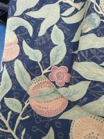 WILLIAM MORRIS FABRIC FRUITS BLACK 10 METRES TASPESTRY DESIGNER FREE POSTAGE